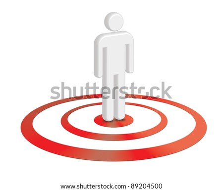 Customer, user centric concept - stock photo