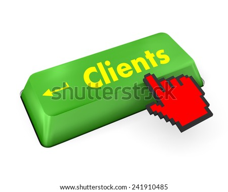 Customers Service Concept. Button on Modern Computer Keyboard with Word Clients on It. - stock photo