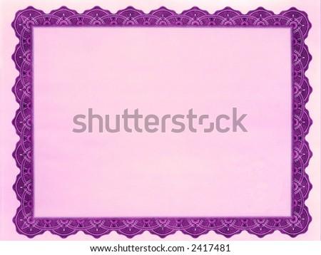 Customizable Blank certificate - stock photo