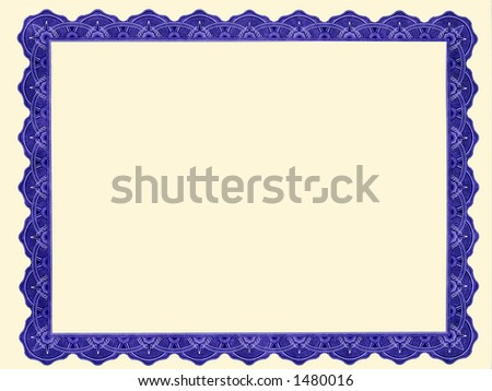 customizable certificate frame - stock photo