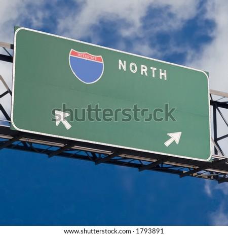 Customizable freeway sign - stock photo