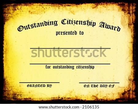 Customizable Outstanding Citizenship Award - stock photo
