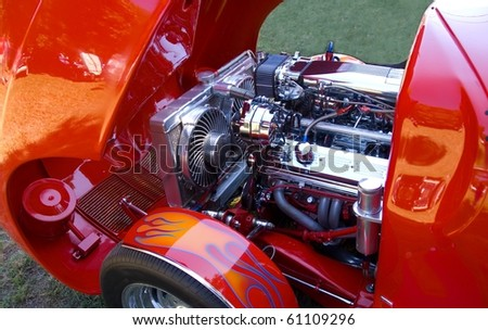 customized hot rod - stock photo