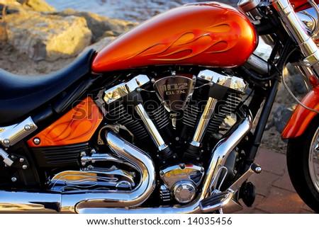 Customized motorcycle - stock photo