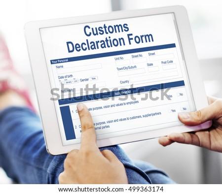 Customs declaration form invoice freight parcel stock photo edit customs declaration form invoice freight parcel concept altavistaventures Images