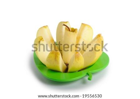 Cut an apple - stock photo