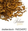 Cut and dried different sorts (kinds) tobacco leaves. - stock photo