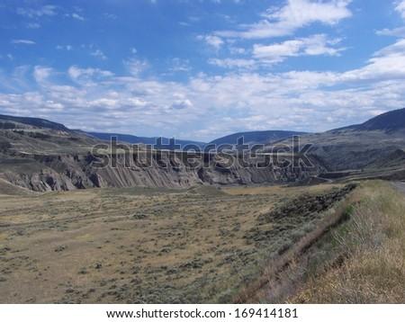 Cut banks terrain - stock photo