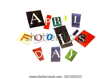 "Cut colored paper Sort character is ""April Fool's Day."""
