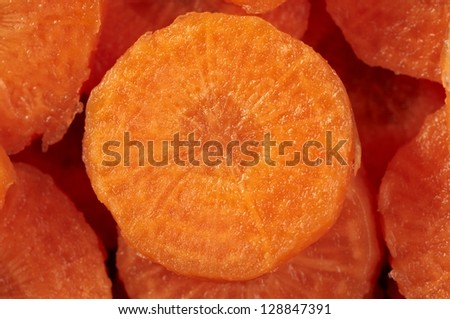 cut fresh carrot background