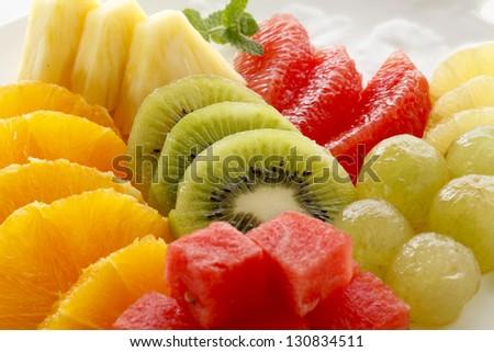 Cut fruit - stock photo