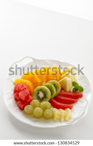Cut fruit - stock photo