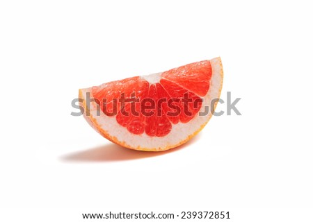 cut grapefruit isolated on white background - stock photo