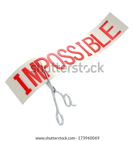 Cut impossible - stock photo