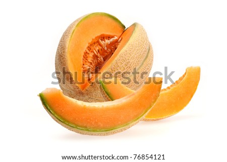 cut melon - stock photo