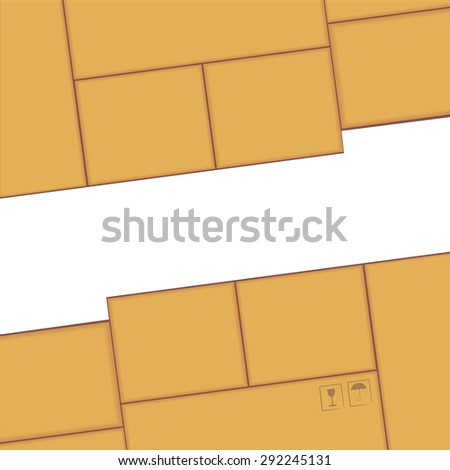 Cut off the paper with a different pattern on cardboard. - stock photo