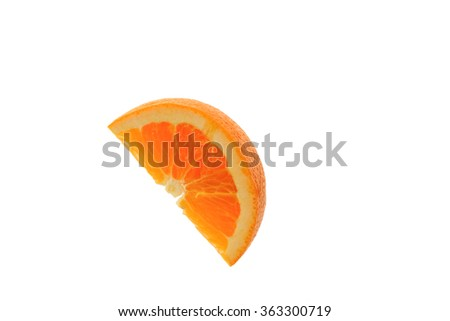 cut orange on the white background - stock photo