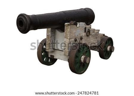 cut out image of a single military artillery gun - stock photo