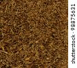 Cut Pipe Tobacco Texture Background, Macro Closeup - stock photo