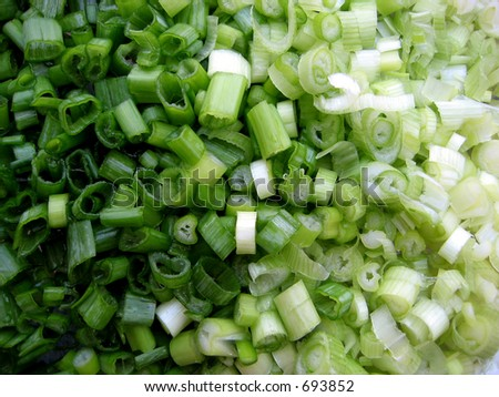 Cut Spring Onions Green Scallion