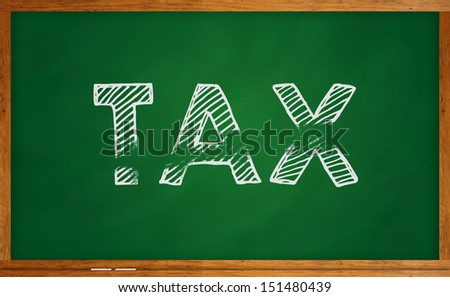 Cut tax concept with some part of text being erased  - stock photo