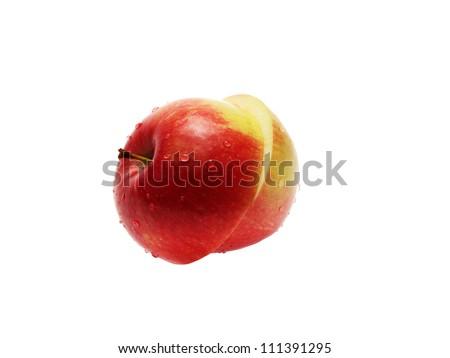 cut the Apple - stock photo
