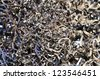Cut the background of metal scrap - stock photo