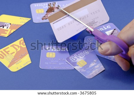cut up credit card; differential focus