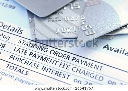 cut up credit card on a statement