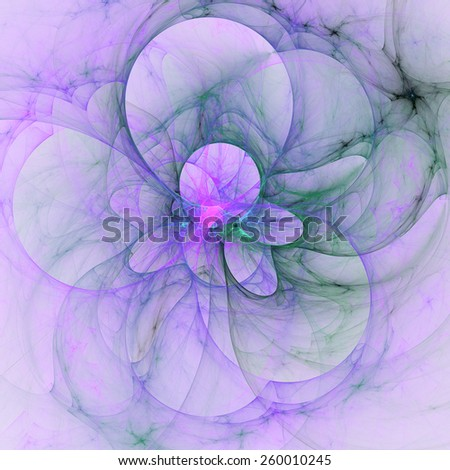 Cute abstract fractal shapes on white background - stock photo