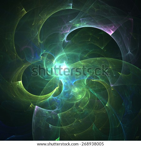 Cute abstract fractal wallpaper on black background