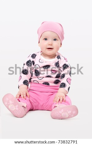 Cute adorable girl - stock photo