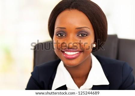 cute african american businesswoman closeup - stock photo