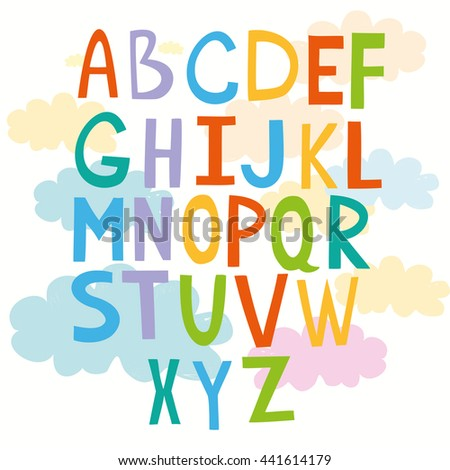 cute alphabet for children. kids fun learning
