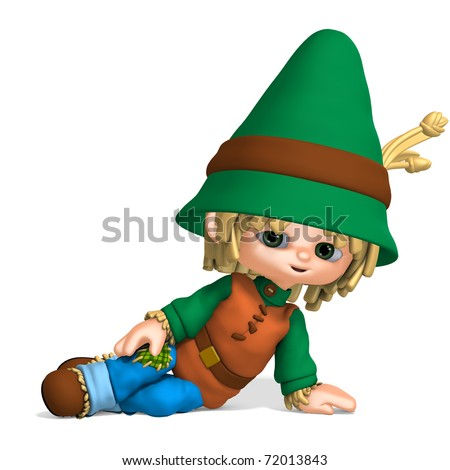 cute and funny cartoon farmer boy. 3D rendering with clipping path and shadow over white - stock photo