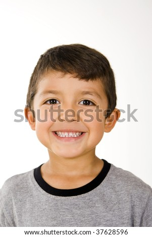 Cute and happy little boy - stock photo