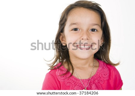 Cute and happy little girl - stock photo