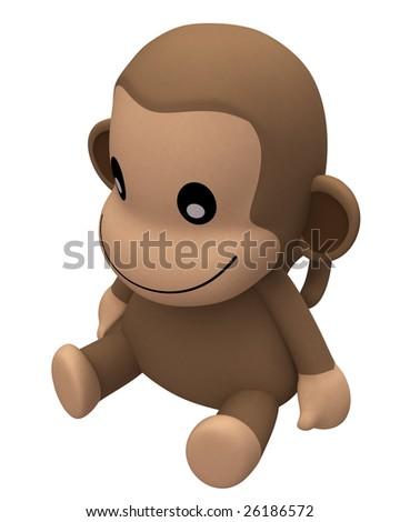 Cute Animal - Monkey - stock photo