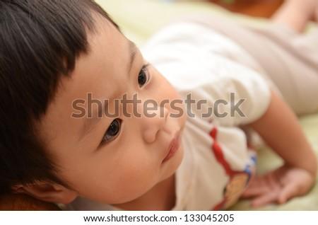 Cute Asian little boy - stock photo