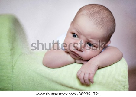 Cute baby boy - stock photo