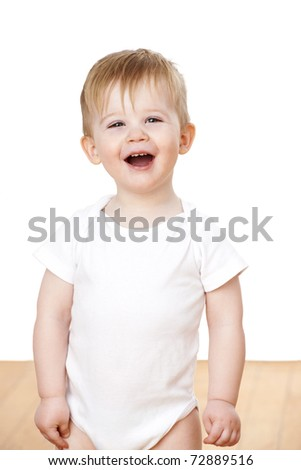 Cute baby boy at 18 months. - stock photo