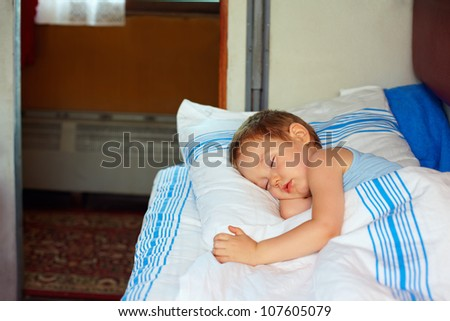 Boy Asleep In Bed Stock Images Royalty Free Images