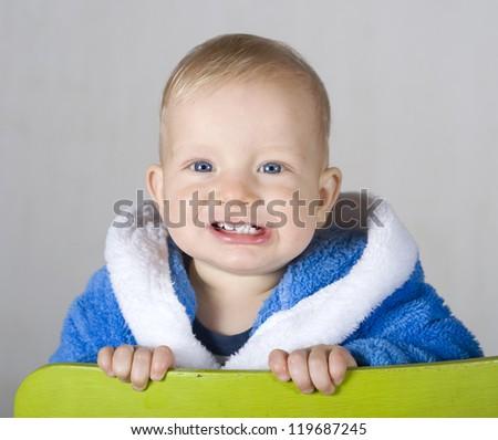 Cute baby boy portrait - stock photo
