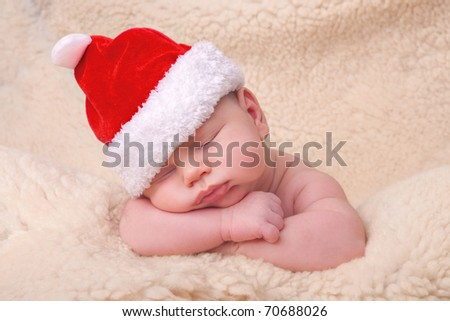 Cute Baby - Christmas collection - stock photo