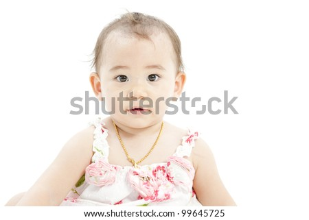 cute baby girl - stock photo