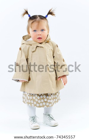 Cute baby Girl In Fashionable Outfit