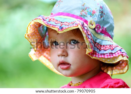 Cute baby girl portrait - stock photo
