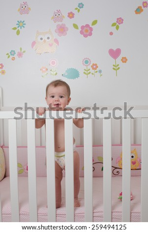 Crying Baby In Crib Stock Photos Images Amp Pictures