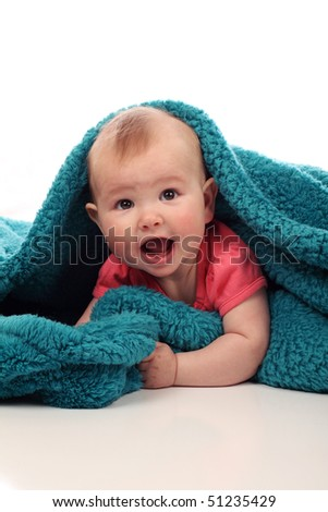 Cute Baby, 6 months old - stock photo