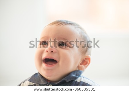 Cute baby portrait - stock photo